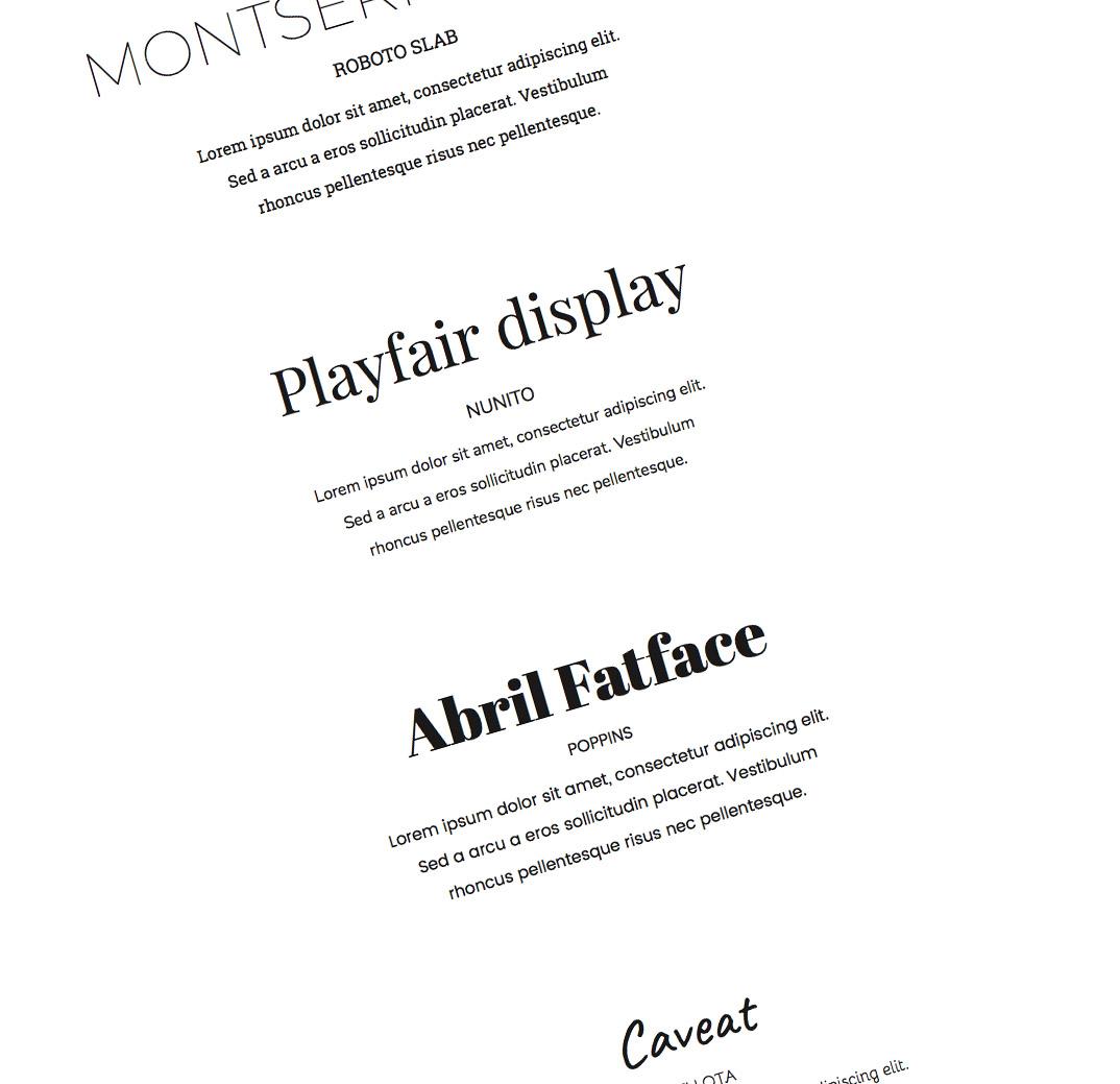 combinaciones google fonts